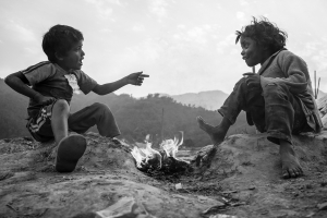 Raju and Sajila enjoy plotting together and dreaming of a new world around the little fires they lit.
