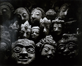 11) STUCCO HEADS FROM VARIOUS SCULPTURES, Sukhodaya and Ayudhya periods