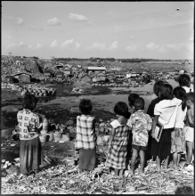 13) Their home, school & playground, Din Daeng dump site Slum, 1958