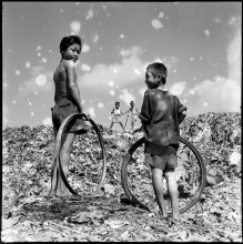 14) Their playground, garbage mountain, 1958
