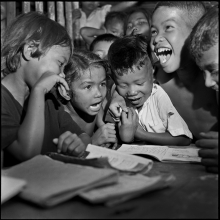 17) Students at Din Daeng slum school, 1958
